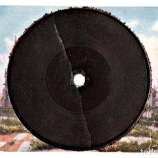 Postales: RARA POSTAL BRITANICA,PRINCIPIOS SIGLO XX,1910-1915,CON DISCO MINIATURA INCLUIDO DE MUSICA CLASICA. Lote 148708602