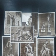 Postales: LOTE 7 POSTALES ANTIGUAS ESCULTURA DE FLORENCIA. 1939 BROMOSTAMPA. Lote 149080910