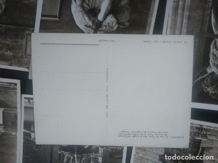 Postales: Lote 7 postales antiguas Escultura de Florencia. 1939 Bromostampa - Foto 2 - 149080910