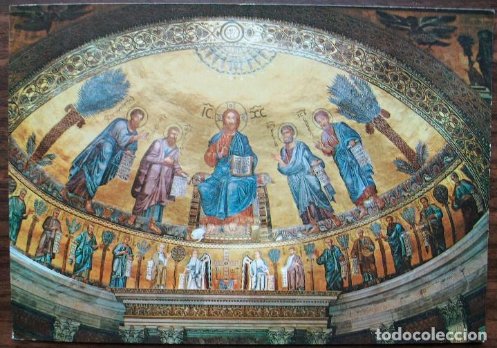 POSTAL ROMA. MOSAICO DE ABSIDE BASILICO ST.PAUL (SIN CIRCULAR) (Postales - Postales Temáticas - Arte)