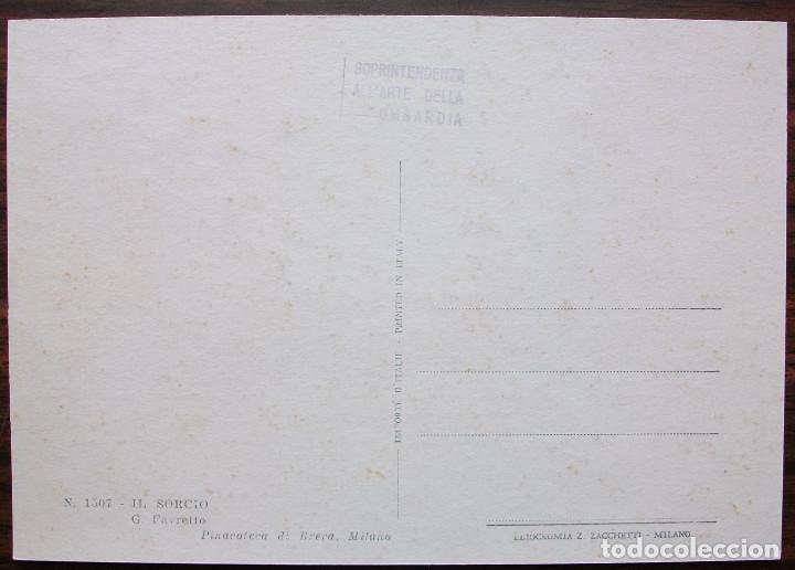 Postales: POSTAL PINACOTECA DI BRERA, MILANO. Nº 1507 - IL SORCIO (SIN CIRCULAR) - Foto 2 - 149347382