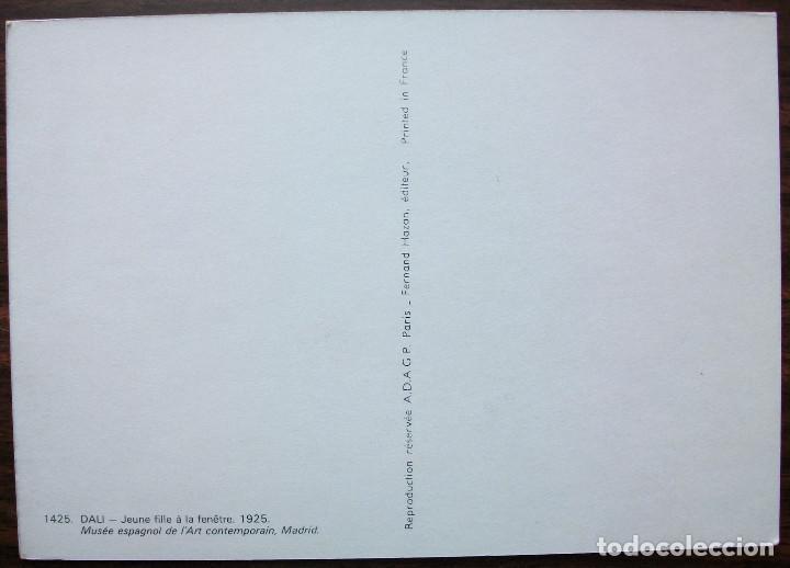 Postales: POSTAL DALI - JEUNE FILLE A LA FENÊTRE (CHICA JOVEN EN LA VENTANA) 1925 - Foto 2 - 149347902