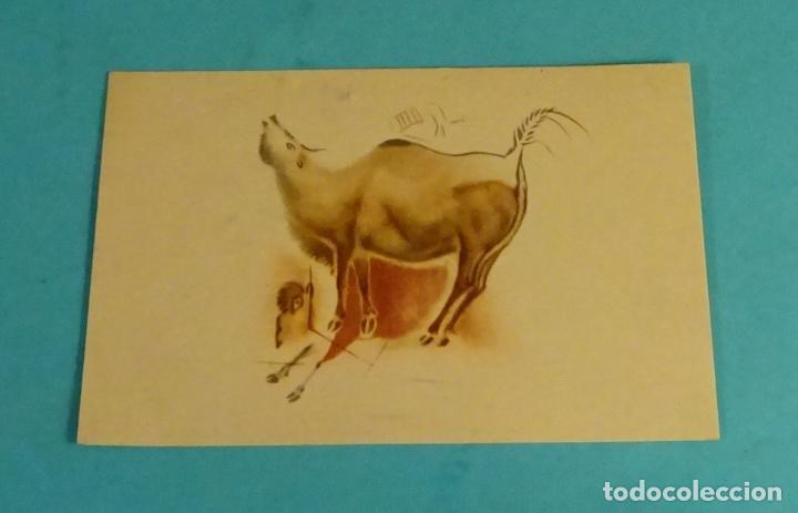 POSTAL BISONTES GALOPANDO Y MUGIENDO. CUEVAS DE ALTAMIRA (Postales - Postales Temáticas - Arte)