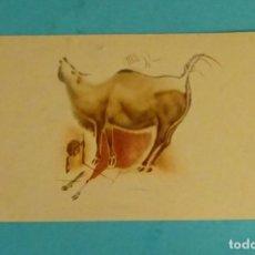 Postales: POSTAL BISONTES GALOPANDO Y MUGIENDO. CUEVAS DE ALTAMIRA. Lote 150159966