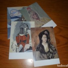 Postales: PICASSO. 4 POSTALES . MUSEO PICASSO, MALAGA. Lote 150560658