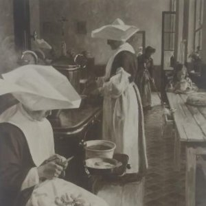 Salon 1913 G. Dervaux Cocina de un horfelinato