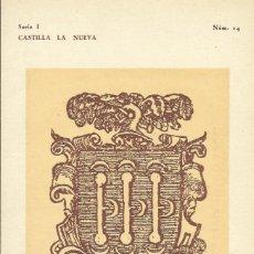 Postales: CASTILLA LA NUEVA. PEDRO JOSÉ ALONSO PADILLA MADRID 1736. FERIA DEL LIBRO 1944. MARCAS DE LIBREROS.. Lote 151518174