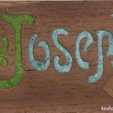 Postales: POSTAL JOSEPH. ESCUDO CATALUNYA. 1910. ESCRITA. LETRA MODERNISTA. ARENYS DE MAR. 9X14 CM. . Lote 151520898