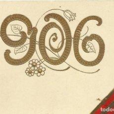 Postales: 1906. NÚMEROS MODERNISTAS Y TROQUELADOS. CARTE POSTALE. 9X14 CM. SIN CIRCULAR. BUEN ESTADO. . Lote 151522978