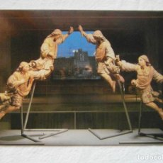 Postales: MUSEO DE GRANOLLERS. ANGELS. TALLA DAURADA I POLICROMADA. ESCUDO DE ORO. FISA. SIN CIRCULAR. Lote 151564862