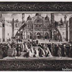 Postales: POSTAL OBRA DE GIOVANNI BELLINI, S. MARCO PREDICA EN ALESSANDRIA - VERA FOTOGRAFIA - S/C. Lote 151652238