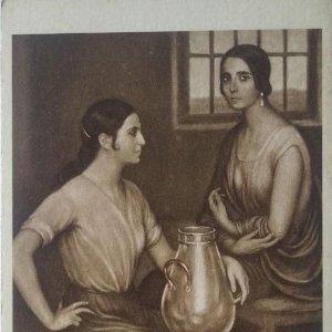 Cordobesas. Postal. Obra de Julio Romero de Torres (Córdoba 1874-1930)