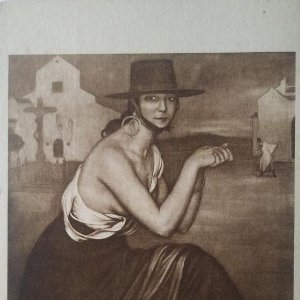 Joven Cordobesa. Postal. Obra de Julio Romero de Torres (Córdoba 1874-1930)