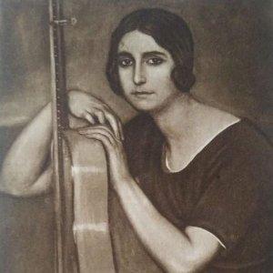 Soleá. Postal. Obra de Julio Romero de Torres (Córdoba 1874-1930)