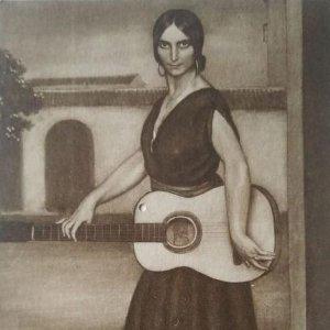 Amarantina. Postal. Obra de Julio Romero de Torres (Córdoba 1874-1930)