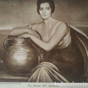 La moza del cántaro. Postal. Obra de Julio Romero de Torres (Córdoba 1874-1930)