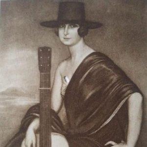 Dora la Cordobesita. Postal. Obra de Julio Romero de Torres (Córdoba 1874-1930)