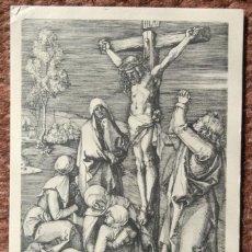 Postales: A. DÜRER - GRABADO CRISTO EN LA CRUZ. Lote 152738446
