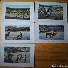 Postales: LOTE DE 5 POSTALES DE CORRIDAS DE TOROS 1903 ED. E. RAMOS MADRID SERIE 97 VARIOS NÚMEROS. Lote 153706818