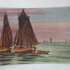 Postales: POSTAL DEL CUADRO - BARCAS EN EL MAR - D. FURIA - ITALIA - AÑO 1925. Lote 155729234