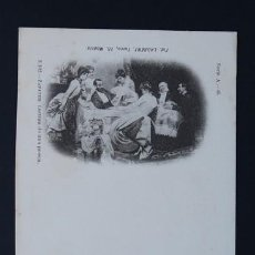Postales: POSTAL ARTE PINTURA ZAPATER LECTURA DE UNA POESIA . 3002 LAURENT AÑO 1899 O ANTERIOR.. Lote 156636530