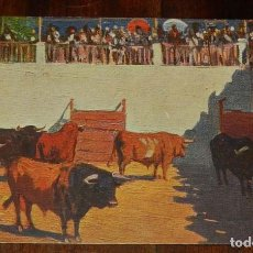 Postales: MARIANO BERTUCHI, TOROS, EDIT. N. COLL. SALIETI Nº 804 EN LOS CORRALES DE LA PLAZLA, SIN CIRCULAR. Lote 156813366