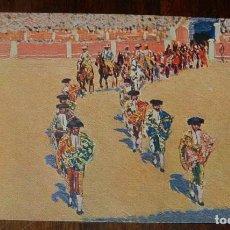 Postales: MARIANO BERTUCHI, TOROS, EDIT. N. COLL. SALIETI Nº 434 SALIDA DE LAS CUADRILLAS, SIN CIRCULAR. Lote 156820830