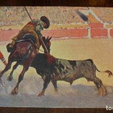 Postales: MARIANO BERTUCHI, TOROS, EDIT. N. COLL. SALIETI Nº 436 UN PUYAZO EN TODO LO ALTO, SIN CIRCULAR. Lote 156821306