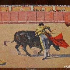 Postales: MARIANO BERTUCHI, TOROS, EDIT. N. COLL. SALIETI Nº 440 UN PASE AYUDADO, SIN CIRCULAR. Lote 156821666