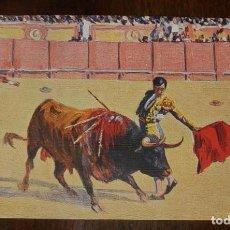 Postales: MARIANO BERTUCHI, TOROS, EDIT. N. COLL. SALIETI Nº 439 UN PASE NATURAL, SIN CIRCULAR. Lote 156821770