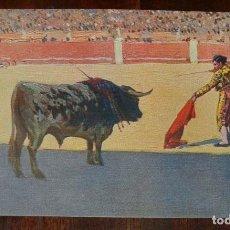 Postales: MARIANO BERTUCHI, TOROS, EDIT. N. COLL. SALIETI Nº 442 ENTRANDO A MATAR, SIN CIRCULAR. Lote 156822222