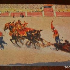 Postales: MARIANO BERTUCHI, TOROS, EDIT. N. COLL. SALIETI Nº 443 ARRASTRE, SIN CIRCULAR. Lote 156822358