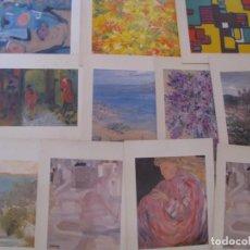 Postales: LOTE DE 11 POSTALES DE OBRAS DE EMMA DE SALGUEIRO.. Lote 160153634
