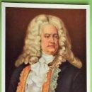 Postales: MÚSICOS: 1567 GEORG FRIEDRICH HÄNDEL. COLLECTION D'ART SUISSE. EDITION STHELI. NUEVA. COLOR. Lote 160786596