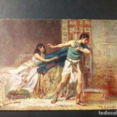 Postales: LA SAGRADA ESCRITURA EN CUADROS DE ROB LEINWEBER, SERIE III, N 1. Lote 161059082
