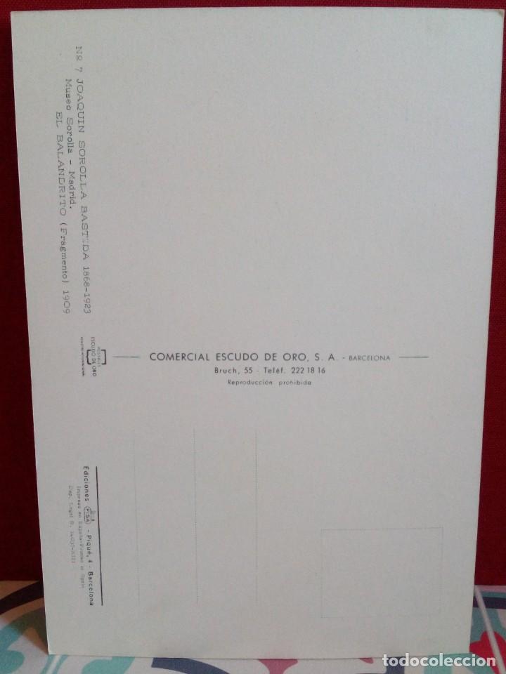 Postales: 20 POSTALES SOROLLA - CUADROS - ÓLEOS - (SIN CIRCULAR) REF: 81/101 - Foto 2 - 162096846