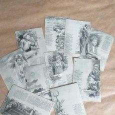 Postales: DULCES CADENAS. 10 TARJETAS POSTALES ILUSTRADAS, HAUSER Y MENET. POEMA EN CUATRO CANTOS, CAMPOAMOR.. Lote 164731290