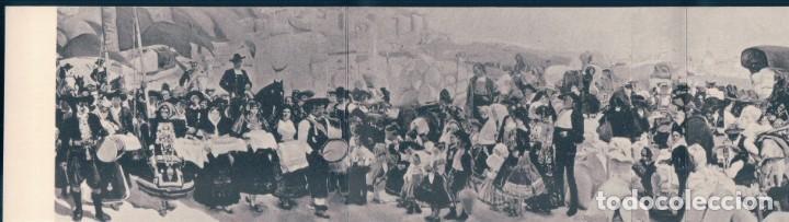 POSTAL TRIPLE JOAQUIN SOROLLA Y BASTIDA - CASTILLA - REGIONAL PAGEANT AT FESTIVAL OF SAIN ISIDORE (Postales - Postales Temáticas - Arte)