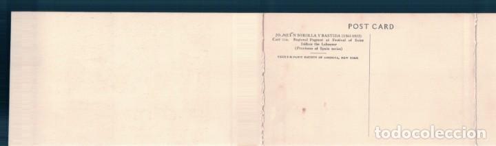 Postales: POSTAL TRIPLE JOAQUIN SOROLLA Y BASTIDA - CASTILLA - REGIONAL PAGEANT AT FESTIVAL OF SAIN ISIDORE - Foto 2 - 167795096