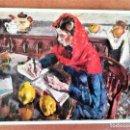 Postales: POSTAL CON PINTURA DEL PINTOR CATALAN IGNASI MUNDO,CON DEDICATORIA Y FIRMA DEL ARTISTA.AÑO1996. Lote 167966628