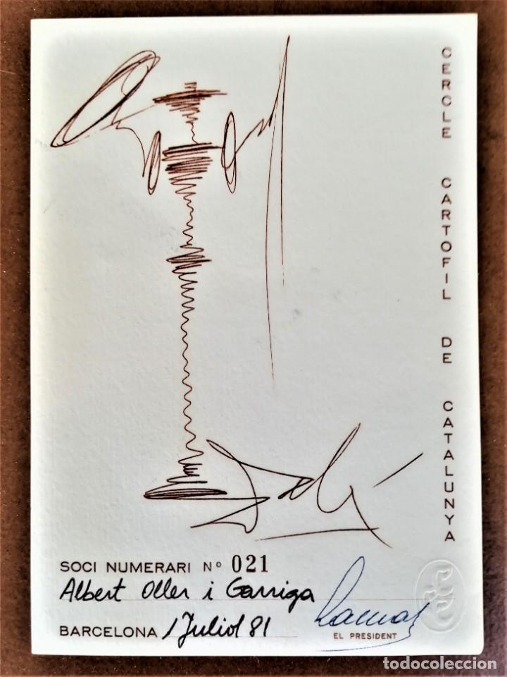 POSTAL CONMEMORATIVA CERCLE CARTOFIL CATALUNYA DON QUIJOTE DE LA MANCHA,DE SALVADOR DALI,SOLO 250 (Postales - Postales Temáticas - Arte)