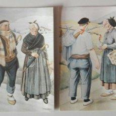 Postales: LOTE DOS POSTALES CON ILUSTRACIONES DE JOSÉ ARRUE. Lote 168247332