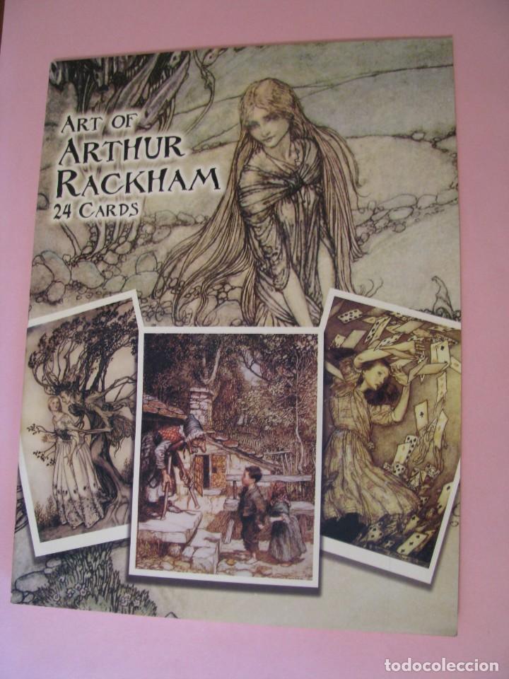 ART OF ARTHUR RACKHAM. 24 CARDS. TARJETAS ILUSTRADAS PARA RECORTAR. 2004. (Postales - Postales Temáticas - Arte)