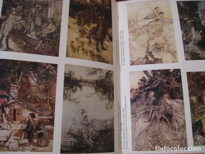 Postales: ART OF ARTHUR RACKHAM. 24 CARDS. TARJETAS ILUSTRADAS PARA RECORTAR. 2004. - Foto 3 - 168296984