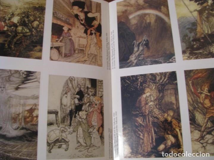 Postales: ART OF ARTHUR RACKHAM. 24 CARDS. TARJETAS ILUSTRADAS PARA RECORTAR. 2004. - Foto 4 - 168296984