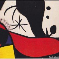 Cartes Postales: POSTAL OBRA DE JOAN MIRÓ (1893-1983) DONA I OCELLS EN UN PAISATGE(1970/) - LA POLIGRAFA Nº 451 - S/C. Lote 169135556