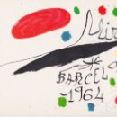 Postales: POSTAL OBRA DE JOAN MIRÓ (1893-1983) BARCELONA (1964) - LA POLIGRAFA Nº 23 - S/C. Lote 169135600