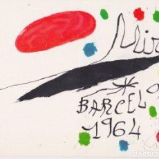 Cartes Postales: POSTAL OBRA DE JOAN MIRÓ (1893-1983) BARCELONA (1964) - LA POLIGRAFA Nº 23 - S/C. Lote 169135600