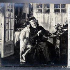Postales: POSTAL FOTOGRÁFICA CUADRO SALON 1907 TIMIDE REQUETE MLLE LÉONIE MICHAUD ND PHOT SIN CIRCULAR. Lote 169295244