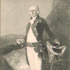 Postales: GOYA, EL GENERAL URRUTIA, SIN USAR. Lote 169311468
